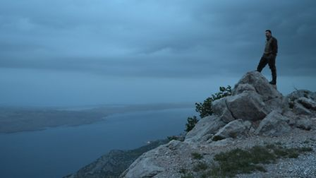Tomo takes in dawn on the Adriatic coast, a stunning backdrop to our mouflon mission