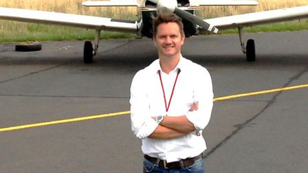 Durham Tees Flight Training Managing Director David Ripley with one of the company's newly acquired