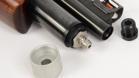 A silencer can be fitted by removing this threaded cap