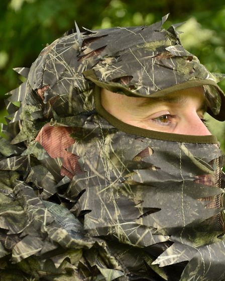 The face veil even has a hole for your ear, because hearing is as important as sight for a hunter
