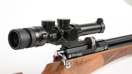 Here we can see just how far back the scope sits on the action.
