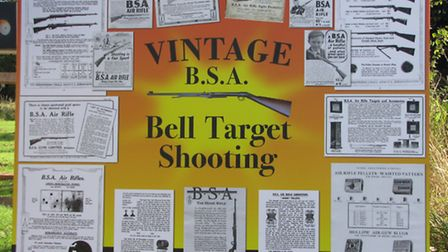 Bell target shooting has been a sport for more than a century. This display board told you all about