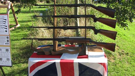 A fine display of vintage arms. All over 100 years old and all in fully working order.