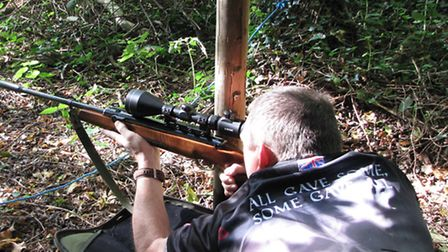 A classic Air Arms Khamsin sidelever in action.