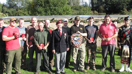 Winners all. Ex Para, Len Buckley (centre) presented the trophies.