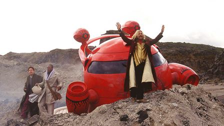 Martin Freeman, Yasiin Bey and Sam Rockwell in Douglas Adams' The Hitchhiker's Guide to the Galaxy (
