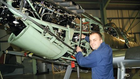 Several of the WWII fighters at Biggin Hill Heritage Hangar are undergoing maintenance or restoratio