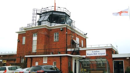 Control tower was built by the RAF, which began operating here in WWI and finally left in 1992