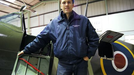 Joe Hirst, General Manager of Biggin Hill Heritage Hangar, which opens regularly for the general pub