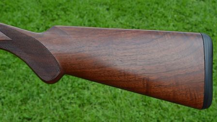 The stock is well conceived and length of pull adjustable by quarter of an inch