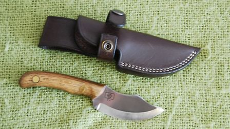 For skinning, use a knife with a concave blade