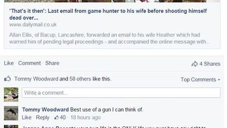 BASC is calling for the resignation of the councillor who made 'sick comments' about the suicide of