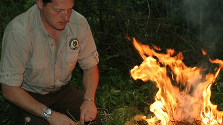 Fires built on peat-based soil can burn sideways away from the fire itself