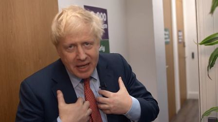 Boris Johnson in a new video from the Conservatives. Photograph: Twitter.