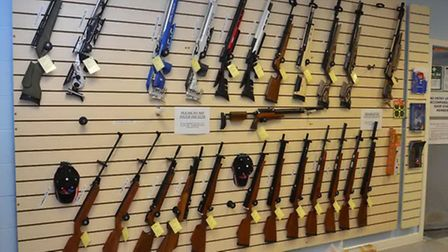 You'll find a good selection of rifles and pistols