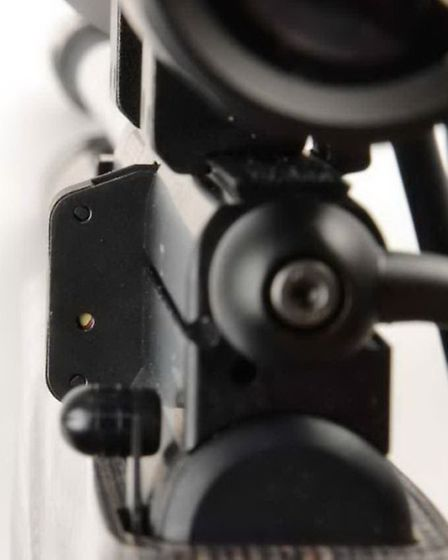Shooter's eye view of the last pellet indicator. It works which is always handy.