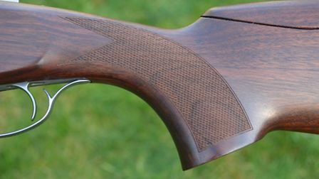 The grip has a well formed palm-swell and the trigger blade has a good shape