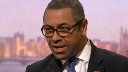 Conservative chairman James Cleverly. Picture: BBC.