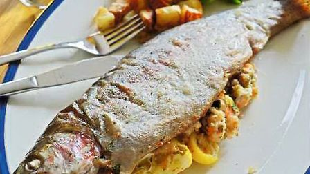 Serve with the roast potatoes and a simple green salad.