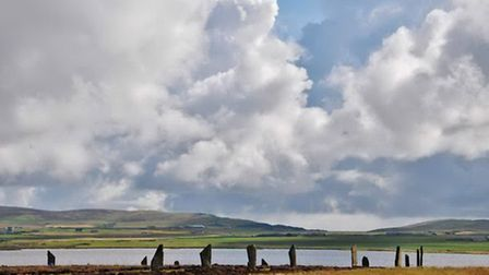 The Neolithic standing stones are huge ceremonial monuments.
