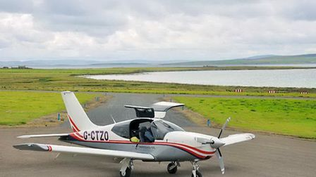 On the apron at Stronsay, Orkney
