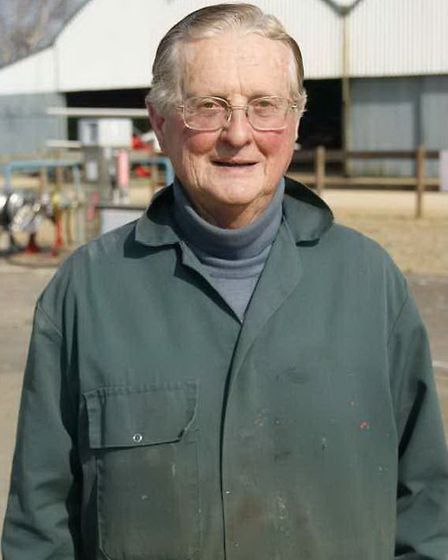 John Wright who with this wife Chrisavyi owns the airfield - his passion is old cars, but he loves o