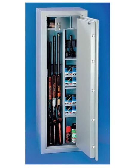 Your local gun shop will be happy to sell you a suitable cabinet