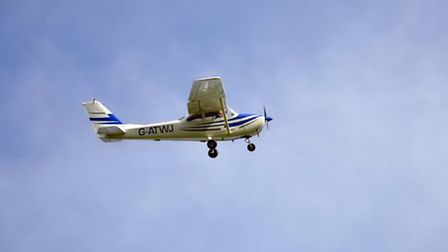 The Cessna rolls across Headcorn's grass strip and leaps into the air, soaring over our heads and th
