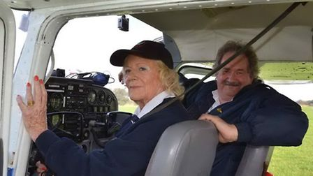 'The pilot and founder of the airfield, 81 year-old Diana Patten, is as much an expert at creating a