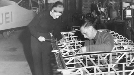 'Diana and Chris built a hangar that remains on the airfield to this day'.