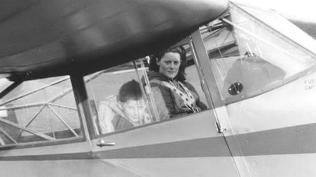 'Not long after returning home she started teaching her son, Jamie, to fly'