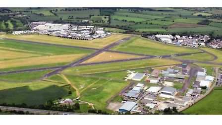 EGBJ seen from overhead (image supplied by Gloucestershire Airport)
