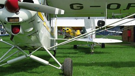 Three of the Super Cubs based at the airfield