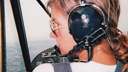 Flying a Piper Cub at the Tiger Club during 2002