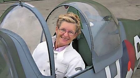 Riding in a Spitfire on her fiftieth birthday