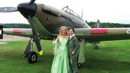 In a posh frock for the Redhill Ball in 2009 with Anna Walker