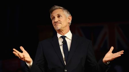 Gary Lineker speaks during a pro-Remain rally rejecting Brexit. (Photo by Jack Taylor/Getty Images)