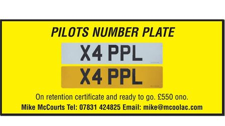PILOTS NUMBER PLATE X4 PPL