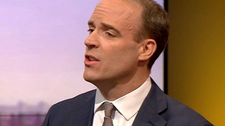 Foreign secretary Dominic Raab speaking on the BBC's Andrew Marr Show (Pic: BBC)