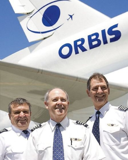 From left to right: Volunteer pilots Bob Rutherford, Gary Dyson and Michael Christiansen