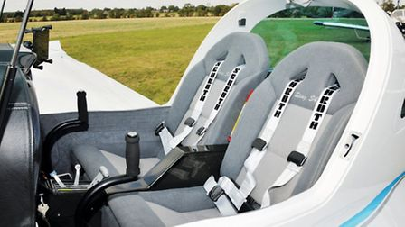 The seat backs are slab-like but comfortable and fold forward to allow access to the baggage locker