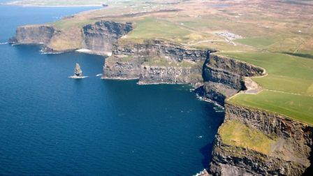 The Cliffs of Moher, situated opposite Inisheer