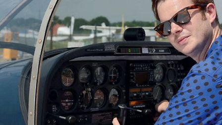 Preparing to depart for Le Touquet, Richard at the controls of his shared Robin DR400