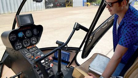 After Pat took him up in a London Helicopter Centre R44, Richards thoughts turned to having a go at