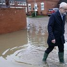 Labour leader Jeremy Corbyn visits flood hit Conisbrough. (Photo by Christopher Furlong/Getty Images