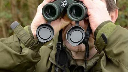 The best way to find your prey is to scan well ahead with binoculars
