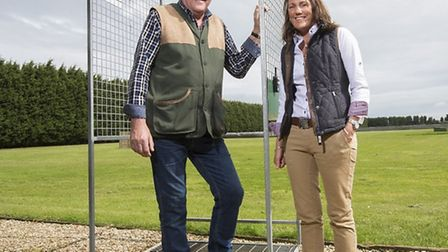 Ground owner Charlie Denoon with Kirsty Keeton. Picture: Fabio De Paola