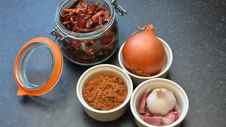 The spices in the sauce can be changed depending on your personal preference, or what you have in th