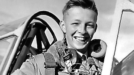 Christopher in his days as a young trainee pilot