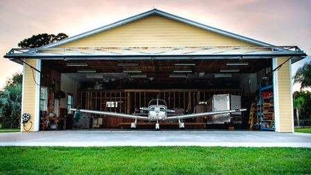 N82332 (Millie) in the hangar at our Indian River home base